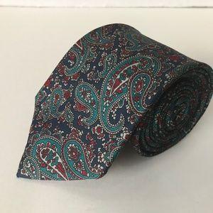 Eaton Accessories - 1990s Eaton Canada Silk Paisley Pattern Necktie